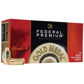 Federal Premium Gold Medal Handgun Ammunition .45 ACP 230 gr FMJ 860 fps 50/box