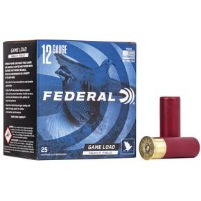 "Federal Game-Shok Upland Game - Heavy Field Load - 12ga 2-3/4"" 1-1/8oz. #4-Shot 25/Box"