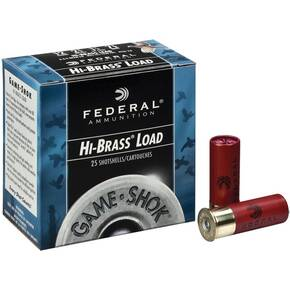 "Federal Game-Shok Upland Game - Hi Brass Load - 12ga 2-3/4"" 1-1/4oz. #4-Shot 25/Box"