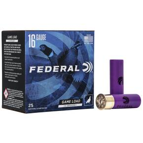 "Federal Game-Shok Upland Game - Hi Brass Load - 16ga 2-3/4"" 1-1/8oz. #4-Shot 25/Box"