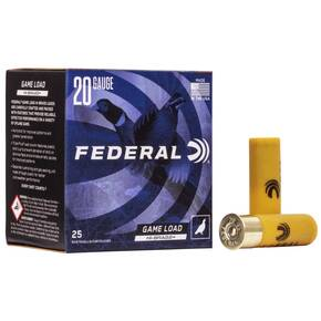 "Federal Game-Shok Upland Game Hi Brass Load 20 ga 2 3/4"" MAX 1 oz #5  - 25/box"