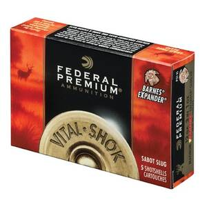 "Federal Premium Vital-Shok Trophy Copper Sabot Slug 20 ga 2 3/4""  275 gr Slug 1700 fps - 5/box"
