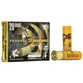 "Federal Premium Vital-Shok Trophy Copper Sabot Slug 20 ga 3""  275 gr Slug 1900 fps - 5/box"