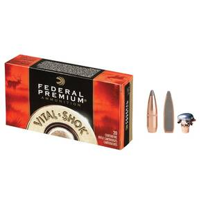 Federal Premium Vital-Shok Rifle Ammunition .25-06 Rem 117 gr BTSP 3030 fps - 20/box