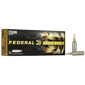 Federal Premium Vital-Shok Rifle Ammunition .270 WSM 130 gr TBT 3280 fps - 20/box