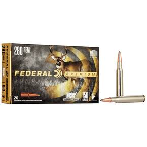Federal Premium Vital-Shok Rifle Ammunition .280 Rem 150 gr PT 2890 fps - 20/box