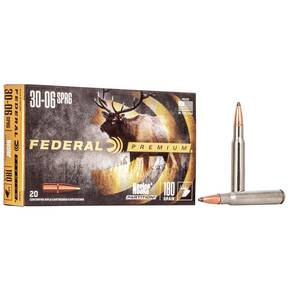 Federal Premium Vital-Shok Rifle Ammunition .30-06 Sprg 180 gr PT 2700 fps - 20/box