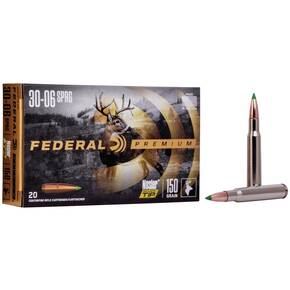 Federal Premium Vital-Shok Rifle Ammunition .30-06 Sprg 150 gr BT 2910 fps - 20/box