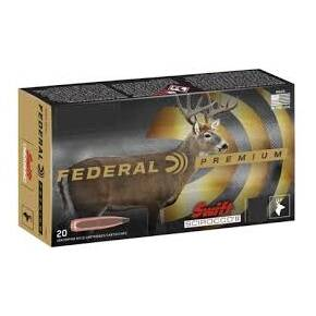 Federal Swift Scirocco II Rifle Ammuniiton .30-06 Sprg 165 gr Poly Tip 2800 fps 20/ct