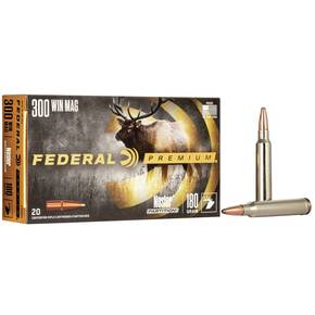Federal Premium Vital-Shok Rifle Ammunition .300 Win Mag 180 gr PT 2960 fps - 20/box