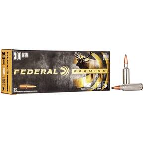 Federal Premium Vital-Shok Rifle Ammunition .300 WSM 165 gr Nosler Partition 3120 fps - 20/box