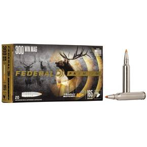 Federal Premium Vital-Shok Rifle Ammunition .300 Win Mag 165 gr TBT 3050 fps - 20/box
