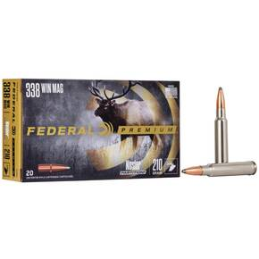 Federal Premium Vital-Shok Rifle Ammunition .338 Win Mag 210 gr PT 2830 fps - 20/box