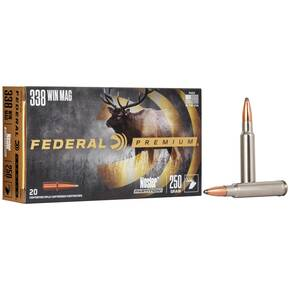 Federal Premium Vital-Shok Rifle Ammunition .338 Win Mag 250 gr PT 2660 fps - 20/box