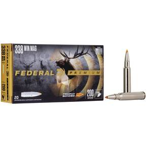 Federal Premium Vital-Shok Rifle Ammunition .338 Win Mag 200 gr BT 2930 fps 20