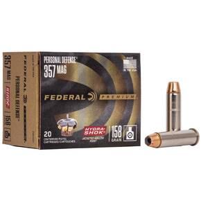 Federal Premuim Personal Defense Handgun Ammunition .357 Mag 158 gr JHP 1240 fps 20/box