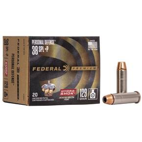 Federal Premuim Personal Defense Handgun Ammunition .38 Spl (+P) 129 gr JHP 950 fps 20/box
