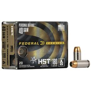 Federal Premium Personal Defense HST Handgun Ammunition  .40 S&W 180gr 1010fps HST - 20/Box