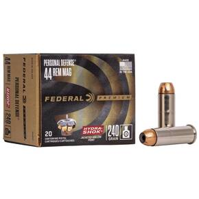 Federal Premuim Personal Defense Handgun Ammunition .44 Mag 240 gr JHP 1210 fps 20/box