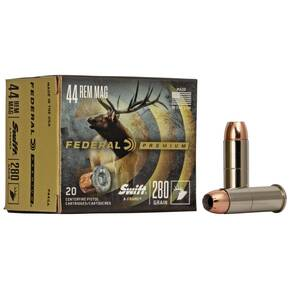 Federal Premium Vital-Shok Handgun Ammunition .44 Mag 280 gr SAF 1170 fps 20/box
