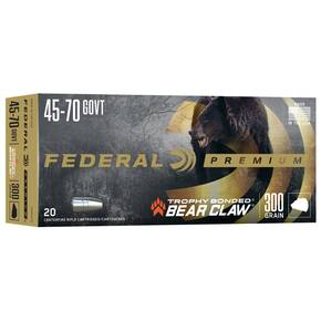 Federal Premium Vital-Shok Rifle Ammunition .45-70 Gov 300 gr TBBC 1850 fps - 20/box