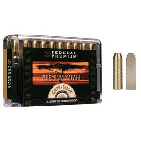 Federal Premium Cape-Shok Rifle Ammunition .470 Nitro 500 gr BS 2150 fps - 20/box