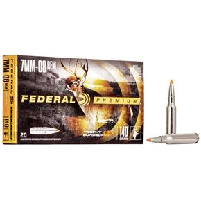 Federal Premium Vital-Shok Rifle Ammunition 7mm-08 Rem 140 gr TBT 2800 fps - 20/box