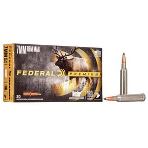 Federal Premium Vital-Shok Rifle Ammunition 7mm Rem Mag 160 gr PT 2950 fps - 20/box