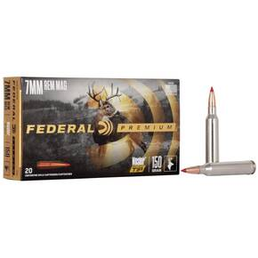 Federal Premium Vital-Shok Rifle Ammunition 7mm Rem Mag 150 gr BT 3025 fps - 20/box