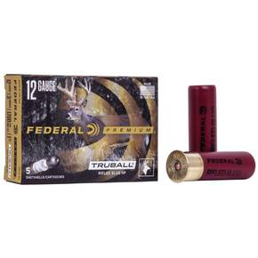 "Federal Vital Shok TruBall Rifled Slug 12 ga 3""  1 oz Slug 1700 fps 5/Box"
