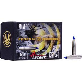 "Federal Terminal Ascent Component Bullets .284 cal .284"" 155 gr TERMINAL ASCENT 50/ct"