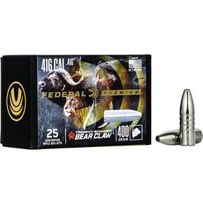 "Federal Trophy Bonded Bear Claw Bullets .416 cal .416"" 400 gr TROPHY BONDED BEAR CLAW 25/ct"