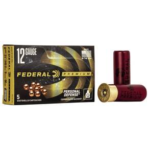 "Federal Premium Personal Defense 12 ga 2 3/4"" MAX 9 plts #00 1145 fps - 5/box"