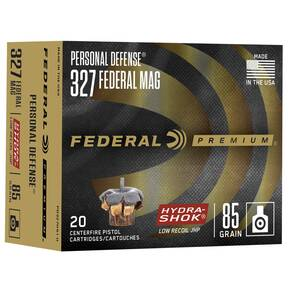 Federal Premuim Personal Defense Handgun Ammunition .327 Mag 85 gr JHP 1400 fps 20/box