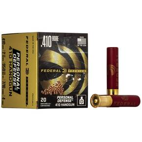 "Federal Premium Personal Defense 410 Handgun Shotshell Ammunition - Judge .410 ga 2 1/2""  7/16 oz #4 950 fps - 20/box"