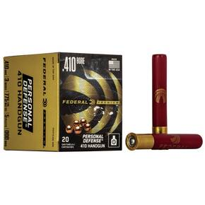 "Federal Premium Personal Defense 410 Handgun Shotshell Ammunition - Judge .410 ga 3""  5 plts #000 775 fps - 20/box"