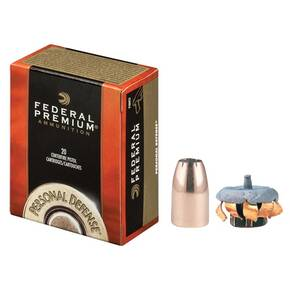 Federal Premuim Personal Defense Handgun Ammunition .45 GAP 185 gr JHP 1090 fps 20/box