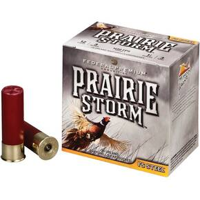 "Federal Premium Prairie Storm FS Steel with FliteControl Wad 12 ga 3"" 1-3/8 oz #4 25/Box"