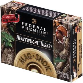 "Federal Premium Mag-Shok Heavyweight Turkey 20 ga 2 3/4"" MAX 1 1/8 oz #7 1100 fps - 5/box"