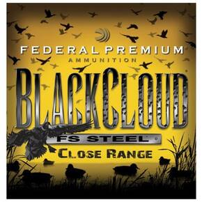 "Federal Premium Black Cloud FS Steel Close Range 12 ga 3""  1 1/4 oz #3 1450 fps - 25/box"