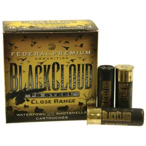 "Federal Premium Black Cloud Steel Close Range 12 ga 3""  1 1/4 oz #4  - 25/box"