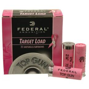 "Federal Top Gun Target Special Edition Pink 12 ga 2 3/4"" 1 1/8oz - 25/box"