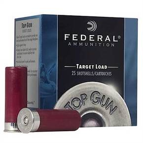 "Federal Top Gun Target Shotshell 12 ga 2-3/4""  1-1/8 oz #8 1145 fps 25/Box"