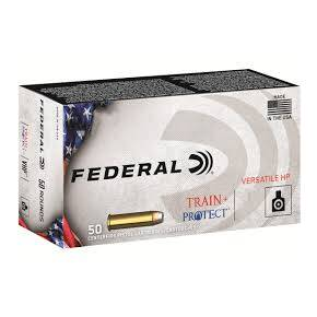 Federal Train+Protect Handgun Ammunition .38 Spl 158gr VHP 830 fps 50/ct