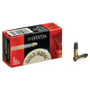 Federal Premium Gold Medal UltraMatch .22 LR 40 gr SLD Rimfire Ammo - 50/box