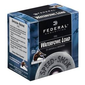 "Federal Speed-Shok Waterfowl Steel - 20ga 2-3/4"" 3/4oz #6-Shot 25/Box"