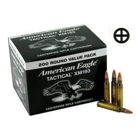 Federal XM193 NATO Tactical Rifle Ammunition .223 Rem 55 gr FMJ  200/Box