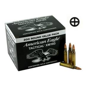 Federal XM193 NATO Tactical Rifle Ammunition .223 Rem 55 gr FMJ 3165 fps 200/ct