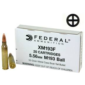 Federal NATO 5.56 Rifle Ammunition 5.56mm 55 gr FMJ-BT  20/Box