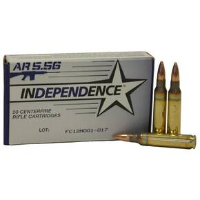 Federal Independence AR Ammuntion 5.56mm 55 gr BT 3165 fps - 20/box